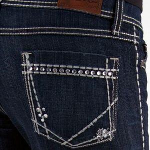 BKE Buckle Blue Starlite Crop Stretch Jeans